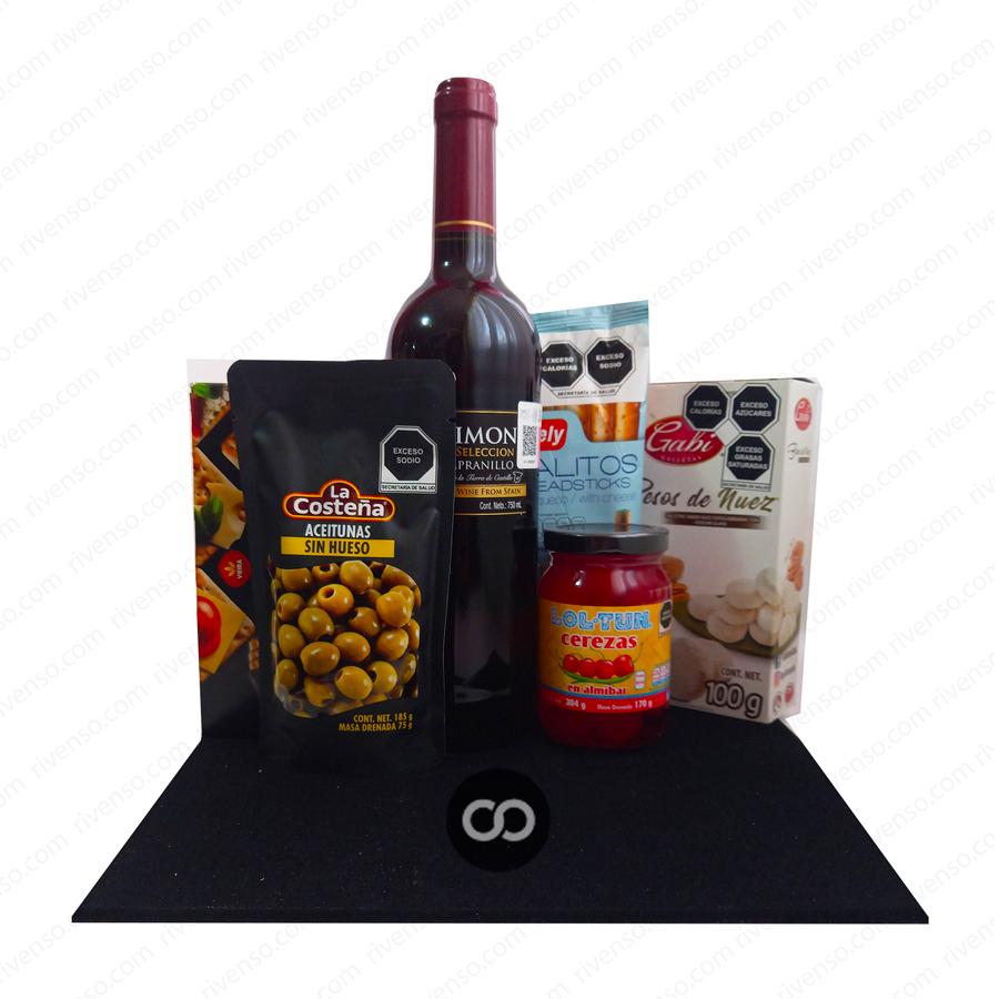 canastas navideñas economicas-canastas navieñas-regalos con vino